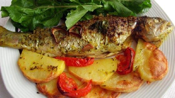 firinda-alabalik-tarifi Balık Yemekleri | Sağlıklı Diyet Balık Tarifleri